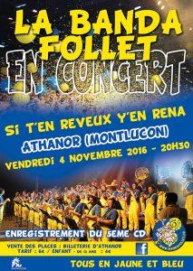 ++ banda follet affiche concert nov 2016